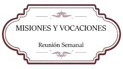 Misiones y vocaciones
