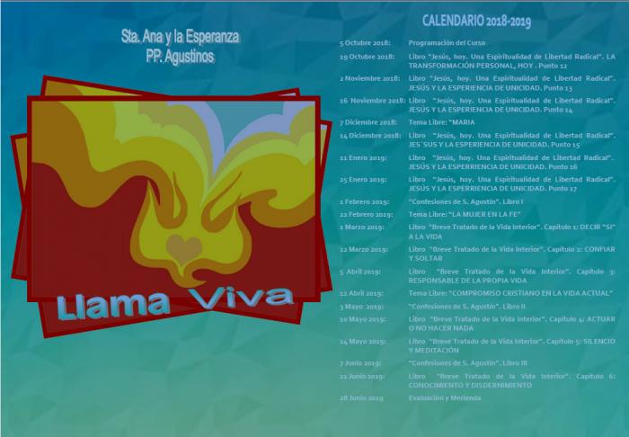 Calendario Llama Viva 2018-2019